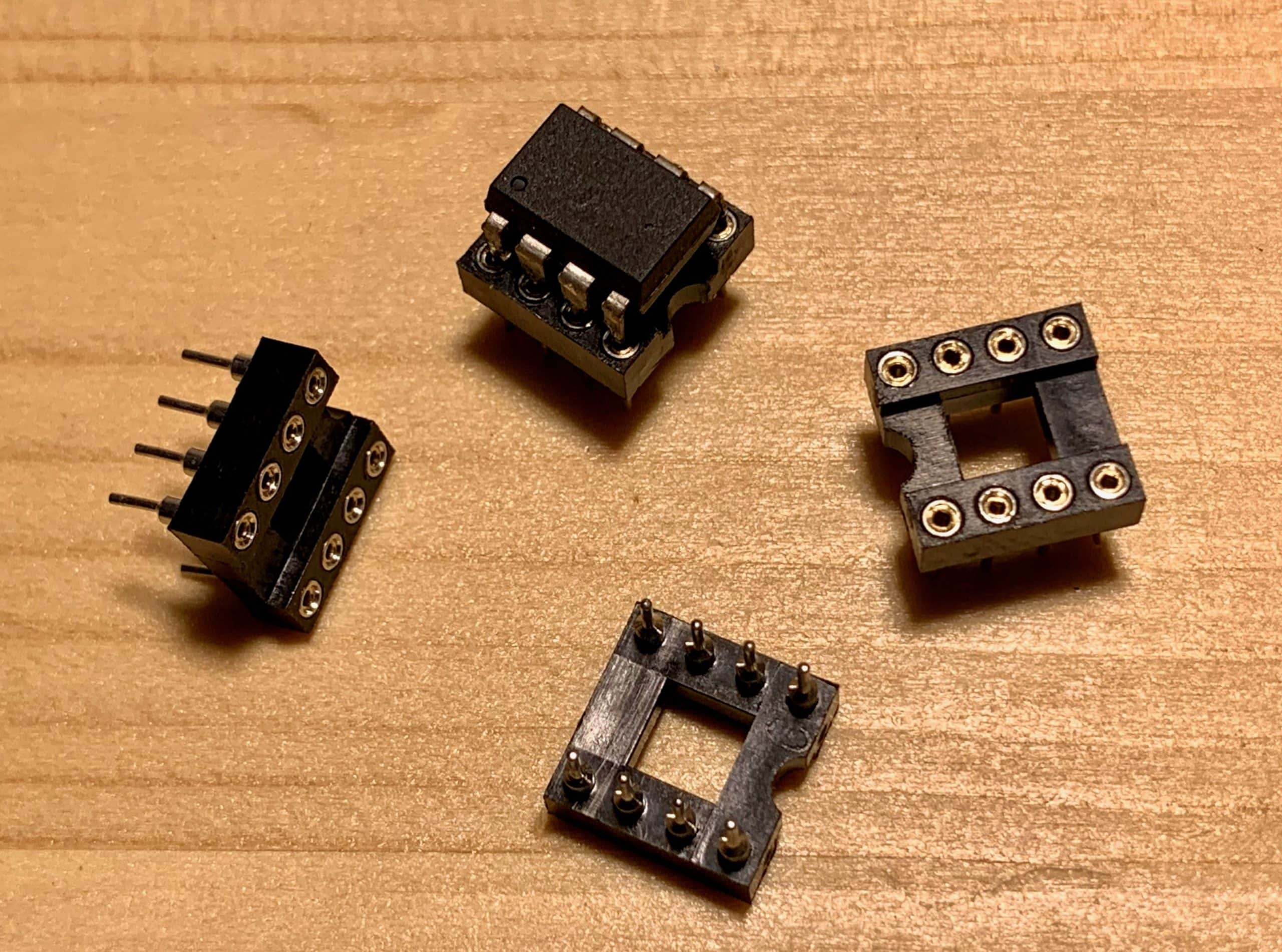 8pin IC Sockets DIP IC Sockets Adaptor Solder Type Socket