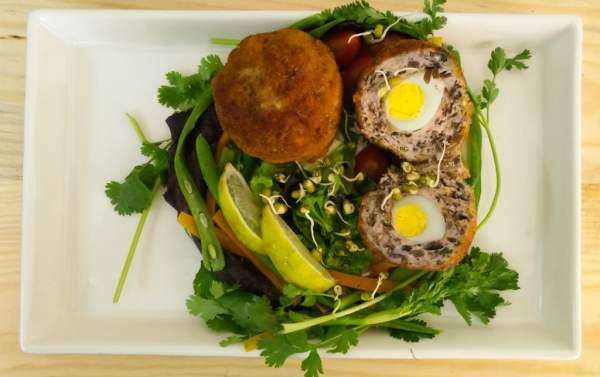 Scotch Eggs with a Tropical Twist