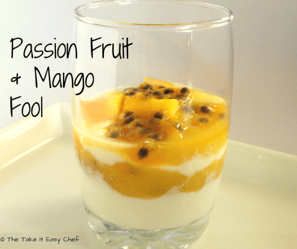 Passion Fruit and Mango Fool