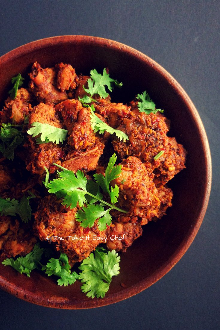 Kori Sukka (Mangalore Style Dry Chicken Curry)