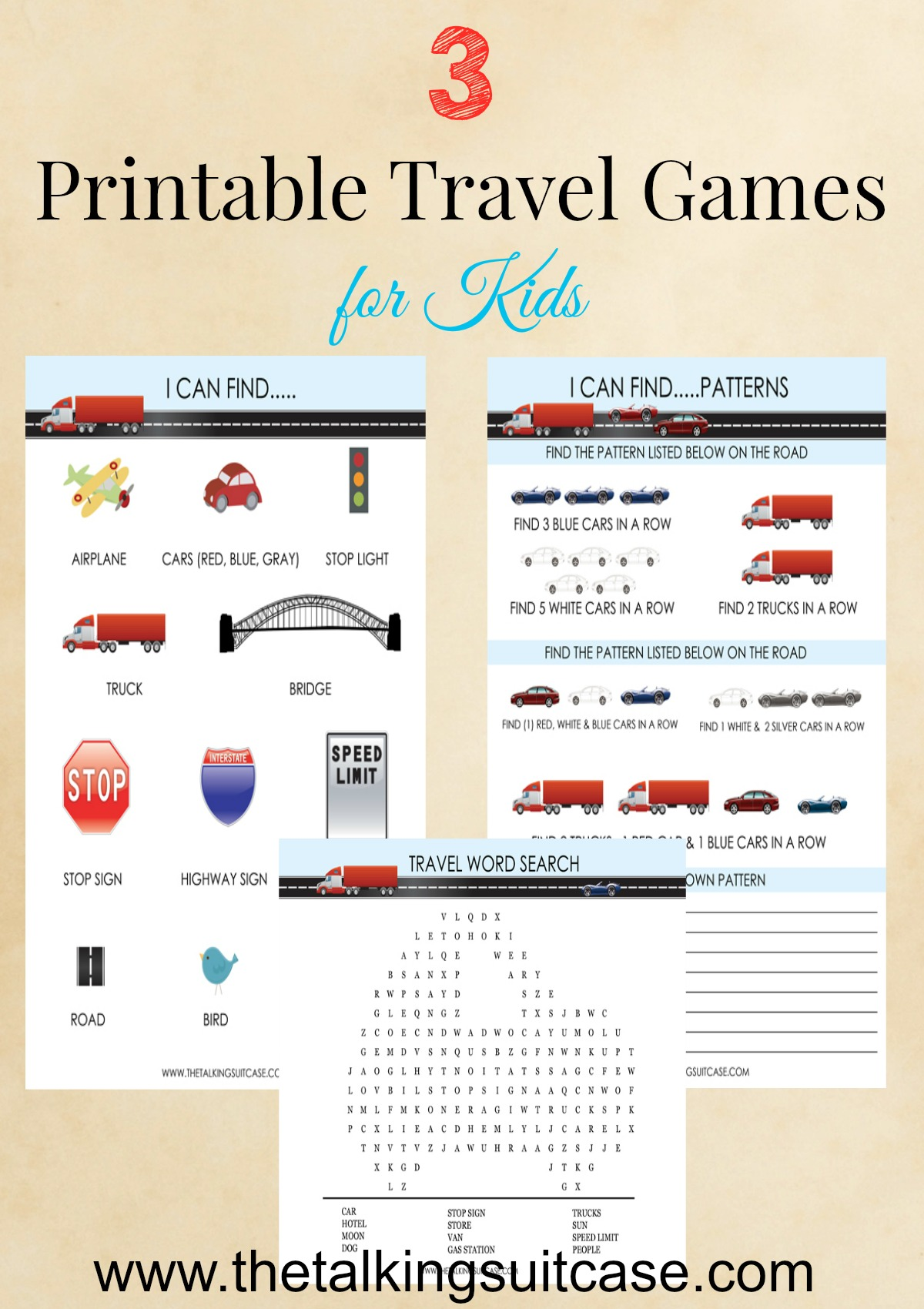 Printable Travel Games For Kids