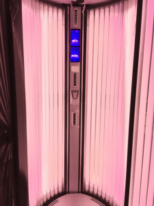 Red Light Therapy Tanning Vertical Sunbed Alisun Sunvision V300