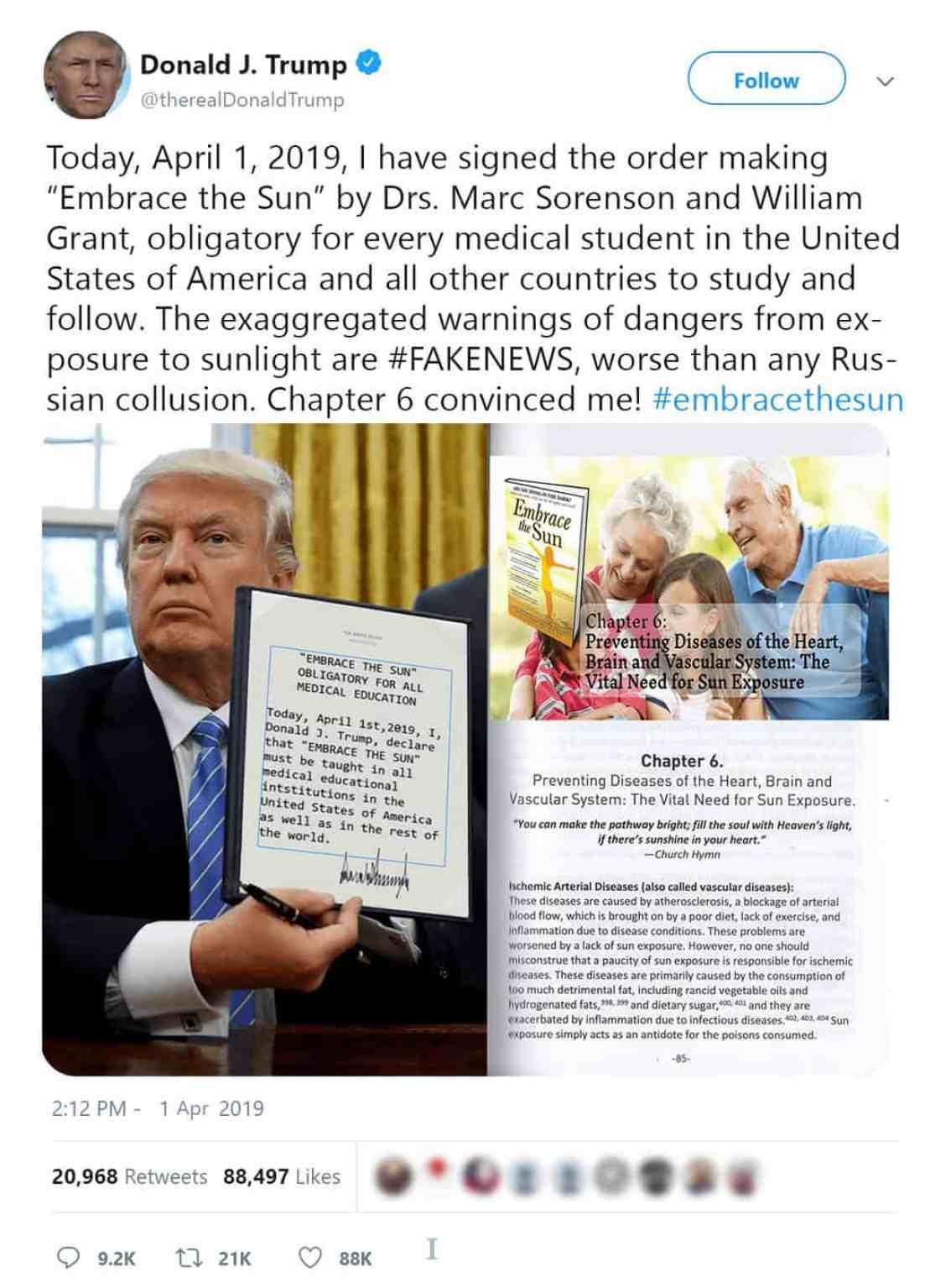 """Trump: """"Embrace the Sun!"""""""