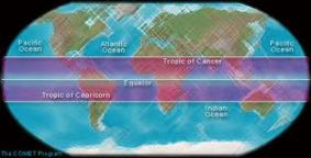 uv-light for healthy tanning - world-map-tropics