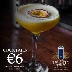 22 €6 Cocktails