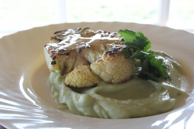 Vegetarian Cauliflower Steak Recipe by Carmel Hall