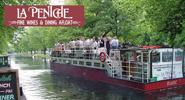 3 Course Dinner For Two And Canal Cruise On La Peniche 48 Thetaste Ie