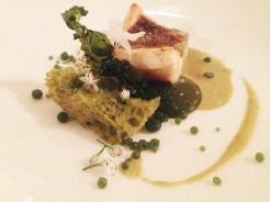 John Dory, Pea Sponge, Nettle caviar