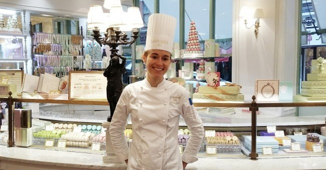 Chef Marion Flipo at Laduree Dublin