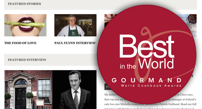 The Taste has been Shortlisted for a Gourmand World Cookbook Awards