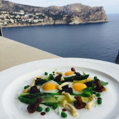 Truffle, Asparagus and Quail Egg Salad Recipe by Chef Benjamin Patterson