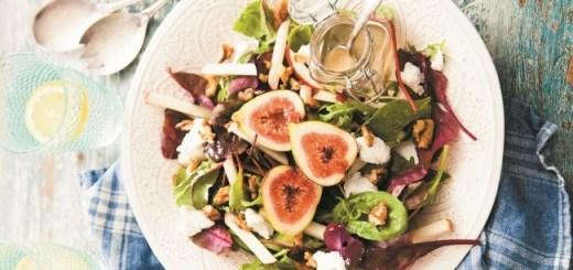 Fiona Uyema Irish Goat's Cheese, Fig & Apple Salad