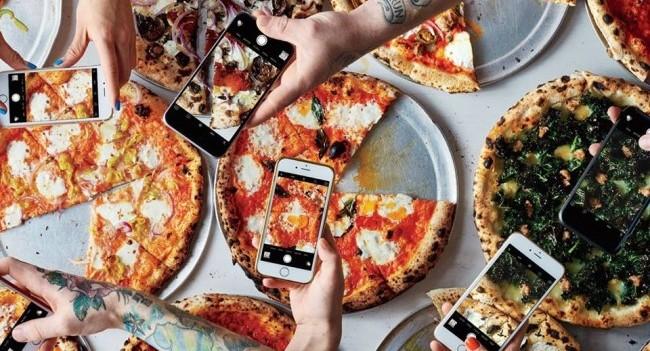 Pizzas on Instagram