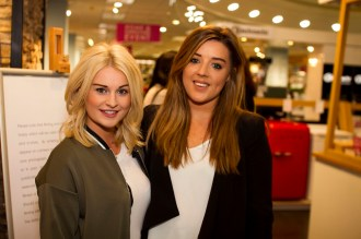 Sarah Doyle and Caitriona Brennan at Bauknecht Cooking Demonstration in Arnotts, Saturday 16th April
