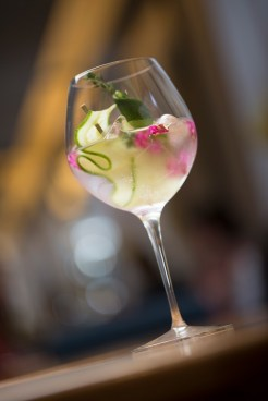 Cooke's Signature Gin & Tonic Hendricks with Cucumber, Lemon Thyme, Lime Twist and Indian Tonic