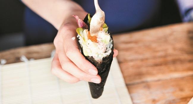 Temaki Hand Roll Sushi Recipe by Fiona Uyema