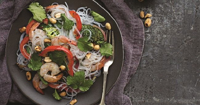 Colourful Prawn and Vegetable Noodle Salad Recipe by Roz Purcell