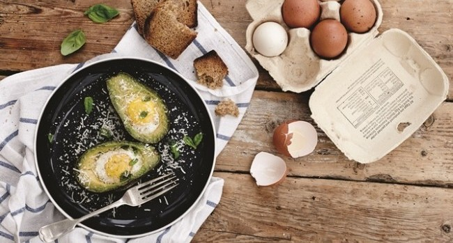 Baked avocado and egg