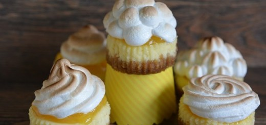 Mini Lemon Meringue Pie Cheesecakes Recipe by Karyn Ryan