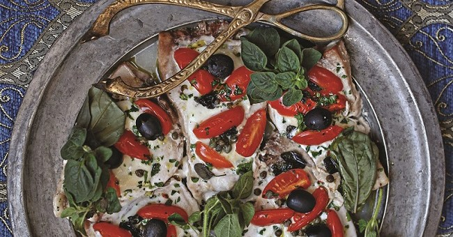 Calabrese Swordfish Pizzaiola Recipe by Eileen Dunne Crescenzi