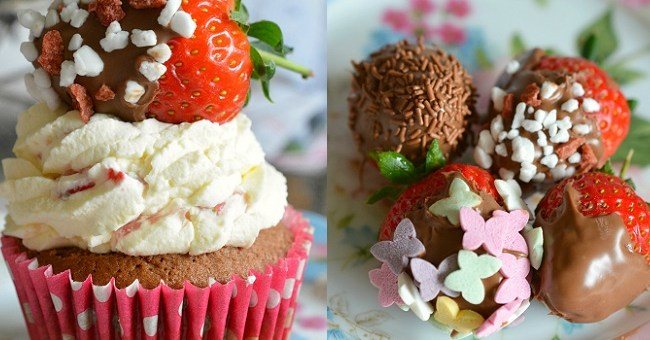 Nutella and Strawberry Cupcakes Recipe by Karyn Ryan
