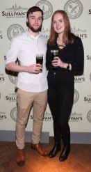 Paul Kelly and Emily O'Farrell at the Dublin launch of Sullivan's Brewing Company at Lemon & Duke,Royal Hibernan Way,Dublin Picture Bbrian Mcevoy No repro fee for one use