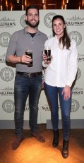 Jamie White and Sophie Carton at the Dublin launch of Sullivan's Brewing Company at Lemon & Duke,Royal Hibernan Way,Dublin Picture Brian Mcevoy No repro fee for one use
