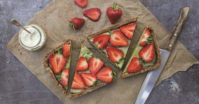Strawberry and Basil Cheesecake Recipe by Susan Jane White