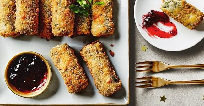Festive Turkey Tapas Croquettes with a Cranberry Dip