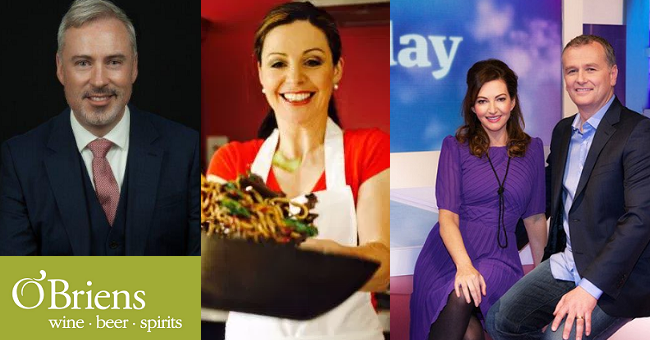 Today with Maura & Dáithí on RTE 1 to Feature O'Briens Wine Picks by Liam Campbell and Catherine Fulvio's Festive Cooking