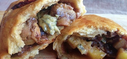 Beef & Cashel Blue Pasties Recipe with Mushrooms and Onion Marmalade