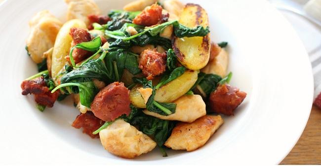 One pan chicken & chorizo recipe