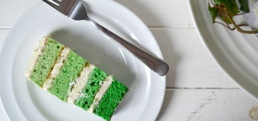 White Chocolate Green Ombre Cake Recipe from Hazel Sheehan