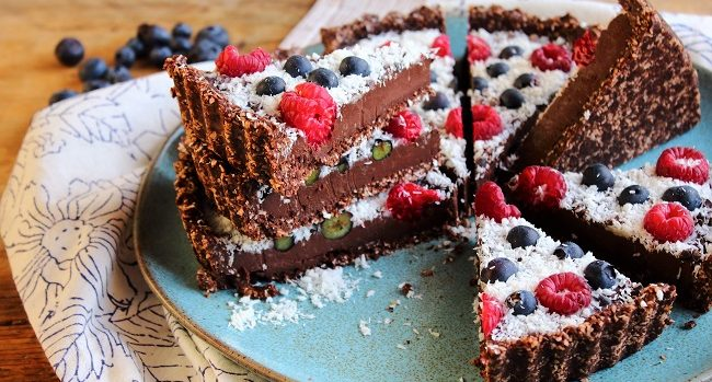 No Bake Chocolate Truffle Tart Recipe by Peachy Palate