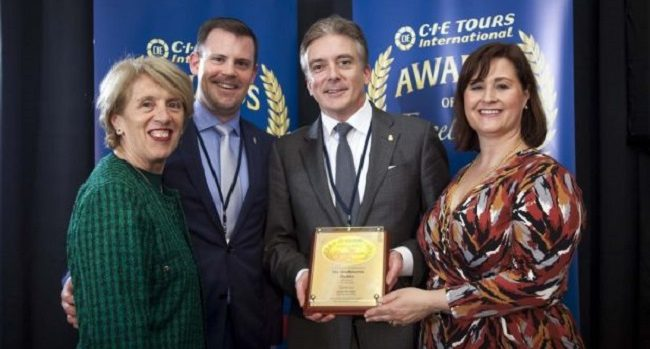 The Shelbourne Hotel Awarded Best 5 Star Hotel at The CIE Tours International Annual Awards of Excellence