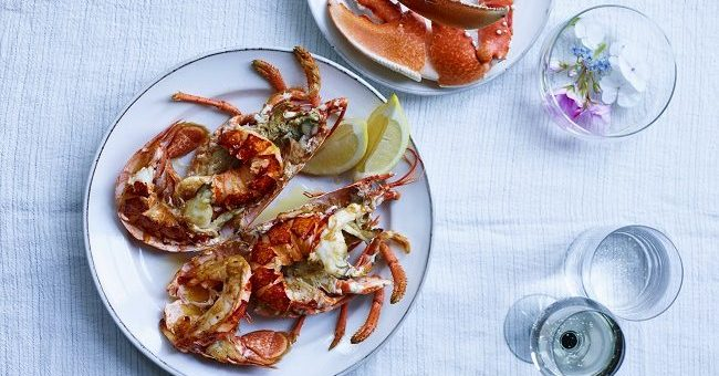 Barbecued Lobster Recipe with Smoked Butter