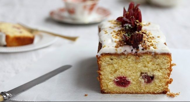 Lemon Hibiscus Loaf Cake Recipe