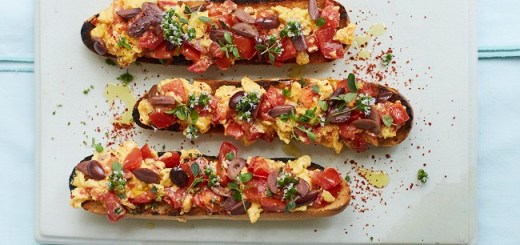 tomato toast scrambled eggs recipe