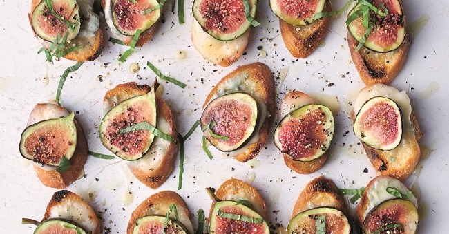 fig gorgonzola croutes recipe