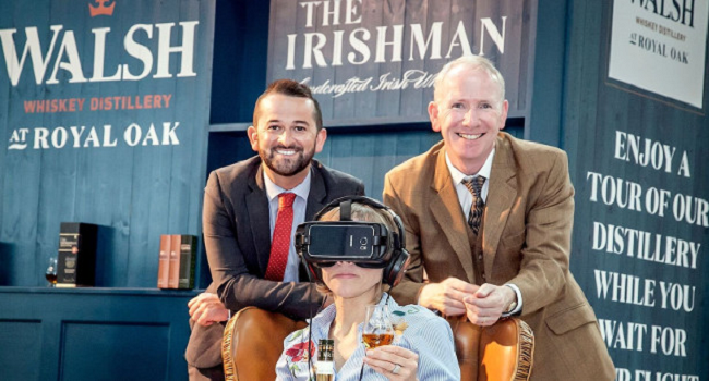 Walsh Whiskey Distillery Launches Cutting Edge Virtual Reality Tour at The Loop in Dublin Airport