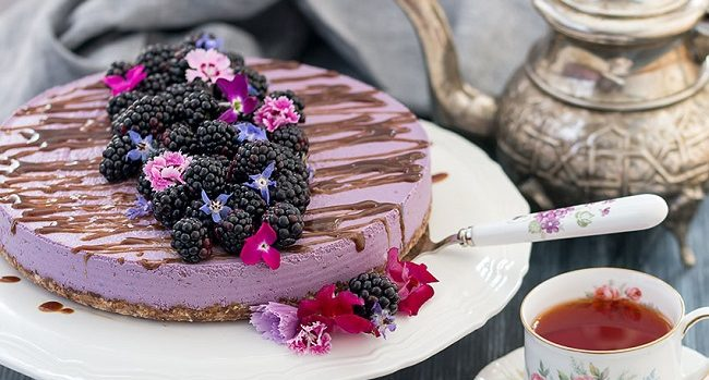 Vegan No Bake Blackberry Cheesecake The Healthy Tart