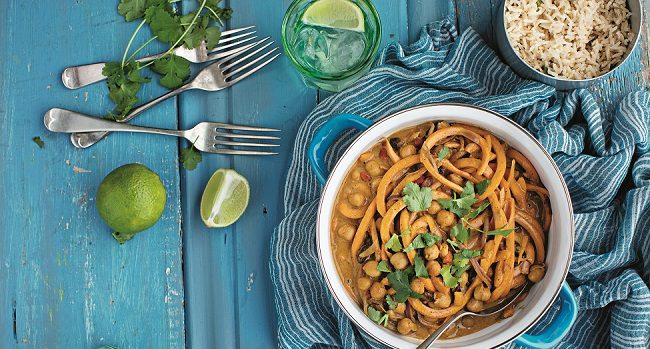 Peanut, Squash and Chickpea Curry