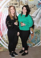 Caroline Gray and Nathalie Ryan pictured at the launch of BACARDÍ Cuatro and Ocho, which were officially introduced in true prohibition style last night at an exclusive speakeasy event off Camden Street. Pic: Marc O'Sullivan