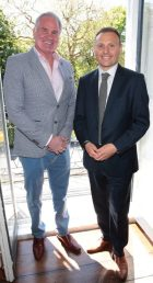 Brent Pope and Niel Alobaidi at the launch of Emirates Holidays in Ireland at Cliff Townhouse Dublin. Pic Brian McEvoy No Repro fee for one use