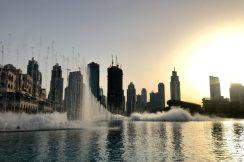 Dubai Fountain Sunset