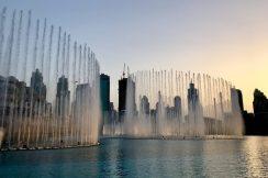 Dubai Fountain Sunset1