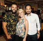 Raf Agapito, Carol Licks and Claudio Franco at Balfes Summer Party-photo Kieran Harnett no repro fee