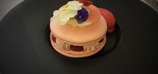 Raspberry Cheesecake Macaron By Chef Orna Larkin at Intercontinental Dublin