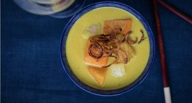 Vegan Gaeng Karee Fuktong Recipe By At Saba