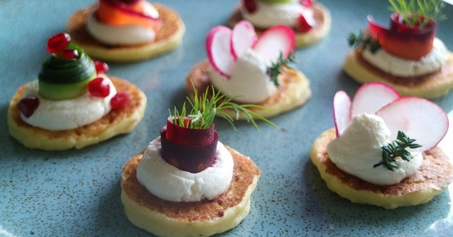 Festive Blinis Recipe By Chef Jeeny Maltese
